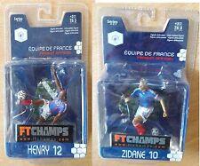 Figurines Articulées Equipe de France Thierry HENRY et Zinédine ZIDANE neuves