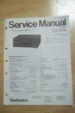 Technics Service Manual for the SU-V650 Amplifier Amp