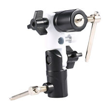 "U-Shape Flash Shoe Swivel Umbrella Holder Light Stand Bracket 1/4""-3/8"" Adapter"