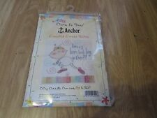 NOVELTY BABY PICTURE ANCHOR COUNTED CROSS STITCH KIT BY COATS CRAFTS