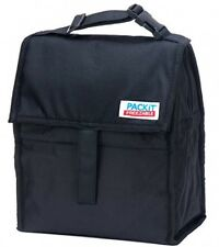 PackIt Freezable Lunch Bag with Zip Closure, Black, New, Free Shipping