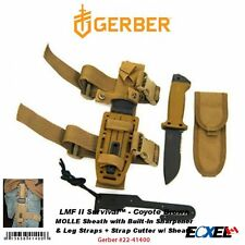 Gerber LMF II Survival, Coyote Brown, Tactical Knife, Molle Sheath #22-41400