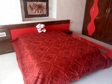 HANDMADE EMBROIDERY AND MIRROR WORK BED SHEET & TAPESTRY DUVET COTTON BEDSPREAD