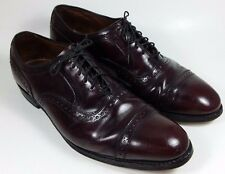 Allen Edmonds Mens Size 10 D Oxblood/Cordovan Color Cap Toe Dress Shoes