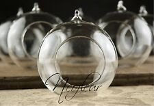 72 x Glass Hanging Bauble Tealight  holder. Christmas or Wedding tree decoration