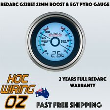 Redarc G52-BET EGT & Boost Pressure Gauge 52mm With Optional Temperature Display