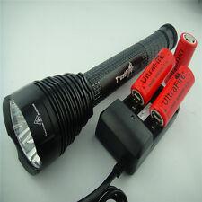 Trustfire 8500Lm 7x CREE XM-L T6 LED Linterna 3x 26650 batería Cargador Holster