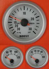 S4 Universal Oil Pressure Water Temp + Boost gauge Psi Supra Starlet Celica MR2