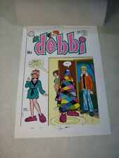 DATE WITH DEBBI #12 original cover art, color separation, DC, 1970'S SCARPELLI