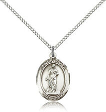 "Saint Barbara Medal For Women - .925 Sterling Silver Necklace On 18"" Chain - ..."