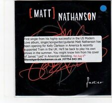 (FB873) Matt Nathanson, Faster - 2012 DJ CD