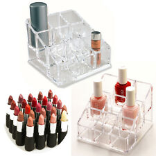 9 ACRYLIC LIPSTICK MAKEUP BRUSH NAIL VARNISH COSMETIC HOLDER STORAGE ORGANISER