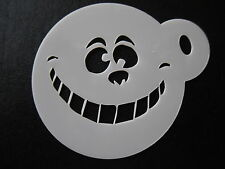 Laser cut small cheshire cat grin design cake,cookie,craft&face painting stencil