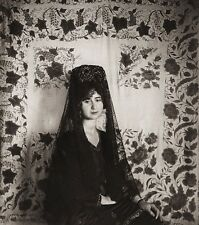 1922 Vintage SPAIN Jerez Mantilla Veil Woman Dress Fashion Photo Art ~ HIELSCHER