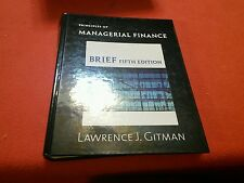 Principles of Managerial Finance, Brief (5th Edition), Lawrence J. Gitman, Good