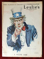 """Leslie's Weekly ~ February 15th, 1917 ~ Uncle Sam """"I Want You"""" James M. Flagg"""