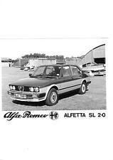 """Alfa Romeo Alfetta SL 2.0 Foto de prensa folleto de ventas"""""""""""