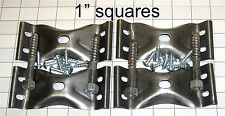 SET OF FOUR EACH TABLE LEG CORNER BRACKETS HANGER BOLTS NUTS S2771-4BN