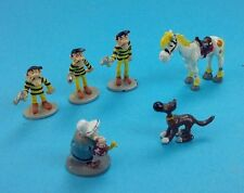 Mini figurine Lot personnages ville Lucky Luke en plomb plastoy collection
