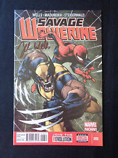 Savage Wolverine 6 7 8 signed Jeb Wells NM/NM+ Condition