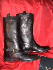 Gorgeous Patrizia Pepe black leather biker riding buckle boots NIB $430 39 / 9