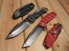 2 x Messer Einhandmesser Rettungsmesser Taschenmesser G10 Stonewash Feuerwehr