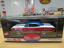 Rare ERTL Sox & Martin Super Stock 1969 Plymouth GTX , Heritage Racing Series #2