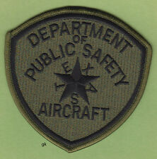 TEXAS AIRCRAFT DEPARTMENT OF PUBLIC SAFETY  DPS POLICE SHOULDER PATCH  Subdued
