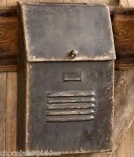 BiG Brown Metal MAILBOX*Kitchen/Office/Porch*Primtive/French Country Farm Decor