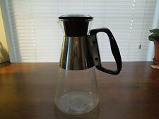 "Pyrex Silex Mid Century Modern Hot or Cold vintage Carafe 6 cup ""D"" handle"