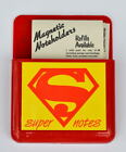 Vintage MAGNETIC SUPERMAN SUPER NOTES HOLDER w NOTE PAD REORDER FORM DC Unused