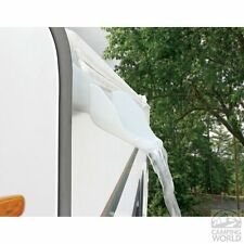 Camco RV White Rain Gutter Spouts with Extension Trailer Camper Motorhome Parts