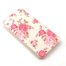 Charm Rose Flower Painted Phone Hard Back Skin Case Cover For iPhone 5/5S