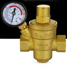 1/2'' DN15 Water valve Regulator valve Thick brass with pressure gauge Valve