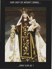 "+""Our Lady of Mount Carmel""...Pray For Us!  *Religious-  ~Post Card~"