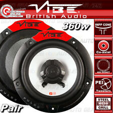 "VIBE Audio Pulse 6 6.5"" 17cm 165mm 360w Coppia Auto Altoparlanti Porta Scaffale Coassiale Set"