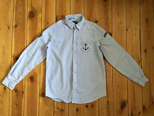 LIGNE KIWI BOYS LIGHT BLUE STRIPPED LONG SLEEVE CASUAL SHIRT - 12 YEARS