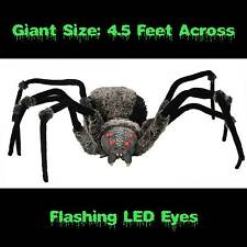 Huge Scary GIANT SPIDER with LED EYES 4.5-foot wide Haunted House Halloween Prop