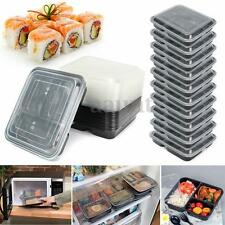 20 Meal Prep Containers Food Storage 3 Compartment Plastic Microwavable Reusable