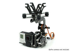 Brushless ActionCam Gimbal W/ 2208 Motors and 3K Carbon Kit GOPRO 3 450 Quad FPV