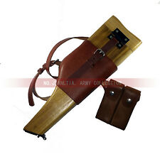 Repro WW2 C96 German Wood Holster Stock Cartridges Pouch Mauser Broomhandle Butt
