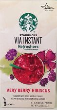 Starbucks Via Instant  Refreshers Very Berry Hibiscus  6-Packets
