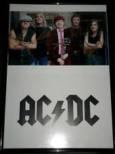 "Signed AC/DC 8x 12"" FRAMED Group Photo"