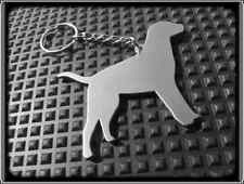 KEYRING DOG - LABRADOR - STAINLESS STEEL - HAND MADE - CHAIN LOOP KEY FOB