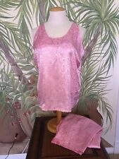 Enchanting•Women's 2X-3X•Pink 2pc Pajamas SEXY SLEEVLESS Top 2X, Pants 3X •NEW•