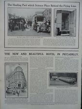 1915 MOBILE X-RAY UNIT; NEW REGENT PALACE HOTEL; TRENCH PERISCOPE ADVERT WW1 WWI