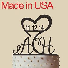 Initial Cake Topper,Personalized Wedding Cake Topper, Acrylic, Made in USA 5""