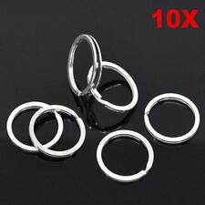 Useful Clasps Connectors Chain Loop Keychain Split Key Ring Stainless Steel