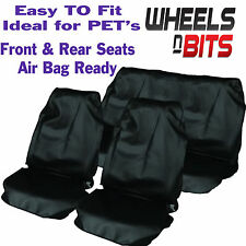 Mitsubishi 4x4 Car Seat Covers Waterproof Nylon Full Set Protectors Black