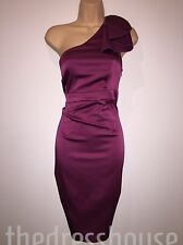 BNWT Teatro Satin One Shoulder Pencil Wiggle Dress Size 18 Secret Support Party